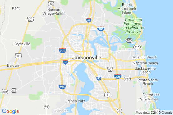 Pest Control In Jacksonville Service Map